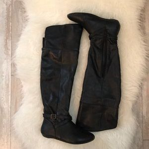 JustFab Over The Knee Flat Boots